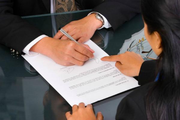 Подписание акта