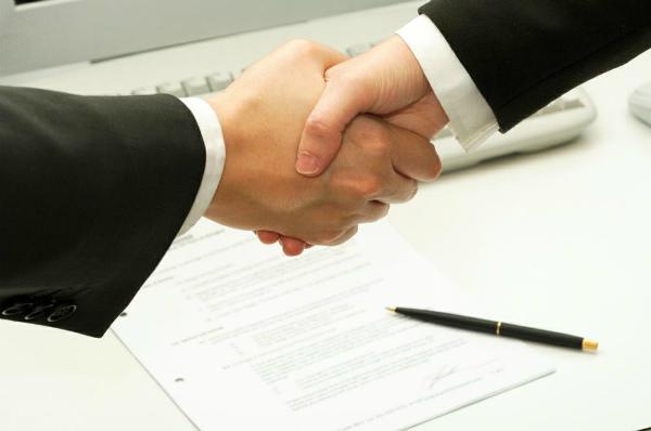 Заключение соглашения между юрлицами
