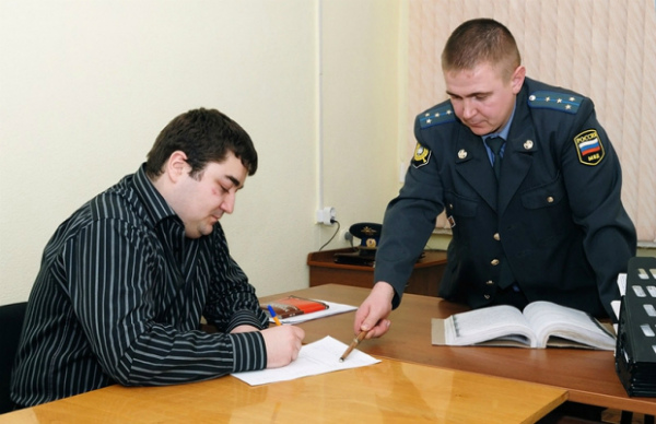Подписание протокола допроса