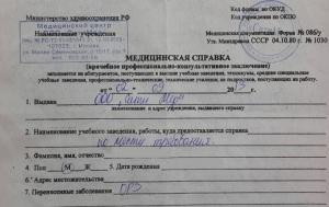 Образец справки 086/У