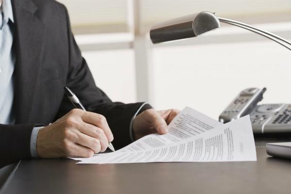 Подписание счета-договора на поставку товара